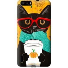 Чехол на Huawei Honor 6 Plus Осенний кот