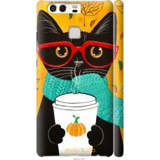 Чехол на Huawei P9 Осенний кот