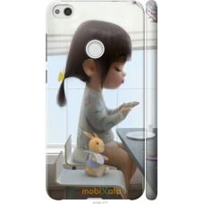 Чехол на Huawei P8 Lite (2017) Милая девочка с зайчиком