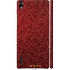 Чехол на Huawei Ascend P7 Чехол цвета бордо