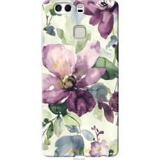 Чехол на Huawei P9 Plus Акварель цветы