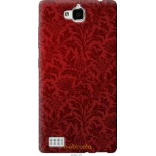 Чехол на Huawei Honor 3C Чехол цвета бордо