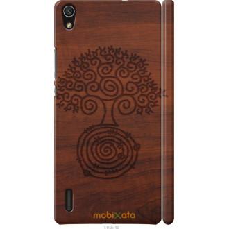 Чехол на Huawei Ascend P7 Узор дерева