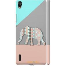 Чехол на Huawei Ascend P7 Узорчатый слон