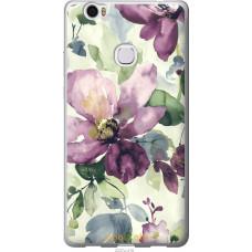 Чехол на Huawei Honor Note 8 Акварель цветы