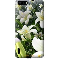 Чехол на Huawei Honor 6 Plus Лилии белые