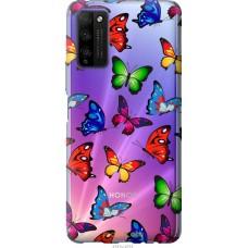 Чехол на Huawei Honor 30 Lite Красочные мотыльки