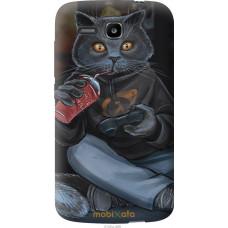 Чехол на Huawei Ascend Y600 gamer cat