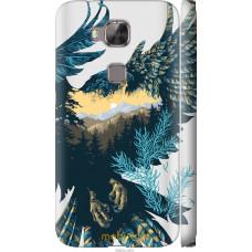 Чехол на Huawei G7 Plus Арт-орел на фоне природы