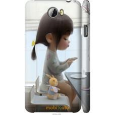 Чехол на Huawei Y5 II Милая девочка с зайчиком