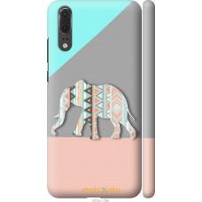 Чехол на Huawei P20 Узорчатый слон