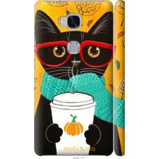 Чехол на Huawei Honor 5X Осенний кот