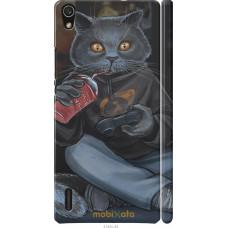 Чехол на Huawei Ascend P7 gamer cat