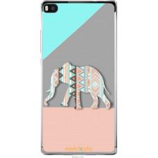 Чехол на Huawei Ascend P8 Узорчатый слон