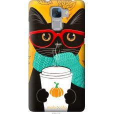 Чехол на Huawei Honor 7 Осенний кот