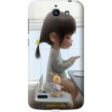 Чехол на Huawei G730 Милая девочка с зайчиком