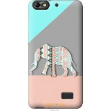 Чехол на Huawei Honor 4C Узорчатый слон