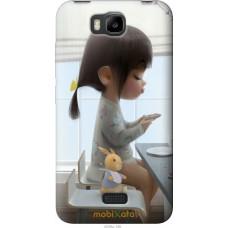 Чехол на Huawei Ascend Y5C Милая девочка с зайчиком