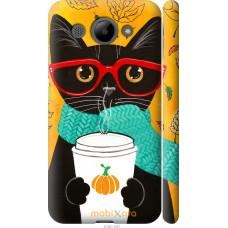 Чехол на Huawei Y3 2017 Осенний кот