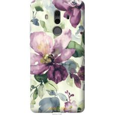 Чехол на Huawei Mate 10 Pro Акварель цветы