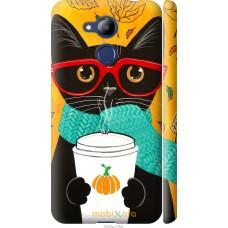 Чехол на Huawei Honor 6C Pro Осенний кот