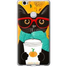 Чехол на Huawei Honor Note 8 Осенний кот