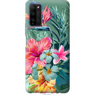 Чехол на Huawei Honor 30 Lite Тропические цветы v1