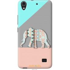 Чехол на Huawei Honor 4 Play Узорчатый слон