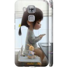 Чехол на Huawei Nova Plus Милая девочка с зайчиком