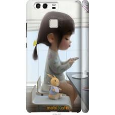 Чехол на Huawei P9 Милая девочка с зайчиком