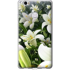 Чехол на Huawei Honor Note 8 Лилии белые