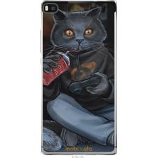 Чехол на Huawei Ascend P8 gamer cat