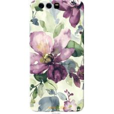 Чехол на Huawei P10 Plus Акварель цветы