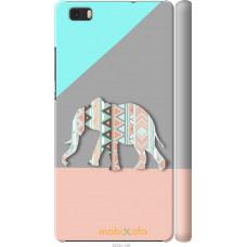 Чехол на Huawei Ascend P8 Lite Узорчатый слон