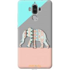 Чехол на Huawei Mate 9 Узорчатый слон
