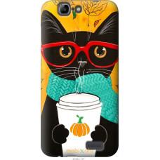 Чехол на Huawei Ascend G7 Осенний кот