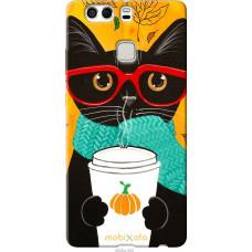 Чехол на Huawei P9 Plus Осенний кот