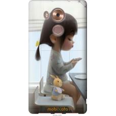 Чехол на Huawei Mate 8 Милая девочка с зайчиком