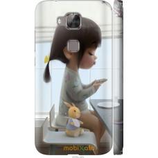 Чехол на Huawei G8 Милая девочка с зайчиком