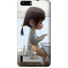 Чехол на Huawei Honor 6 Plus Милая девочка с зайчиком