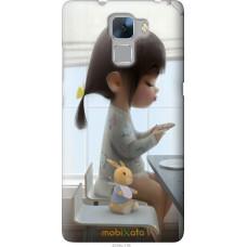 Чехол на Huawei Honor 7 Милая девочка с зайчиком