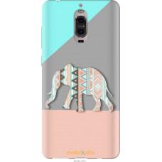 Чехол на Huawei Mate 9 Pro Узорчатый слон