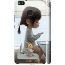Чехол на Huawei P9 Lite Милая девочка с зайчиком