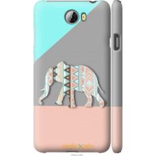 Чехол на Huawei Y5 II Узорчатый слон