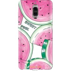 Чехол на Huawei Mate 9 Pro Розовый арбузик