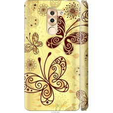 Чехол на Huawei Honor 6X Рисованные бабочки