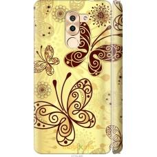 Чехол на Huawei Mate 9 Lite Рисованные бабочки
