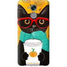 Чехол на Huawei Honor 6C Осенний кот