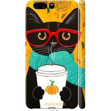 Чехол на Huawei P10 Осенний кот