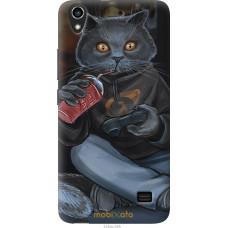 Чехол на Huawei Honor 4 Play gamer cat